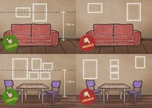 Como pendurar os quadros