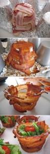 essas então ....de bacon... pode acomodar uma deliciosa saladinha!