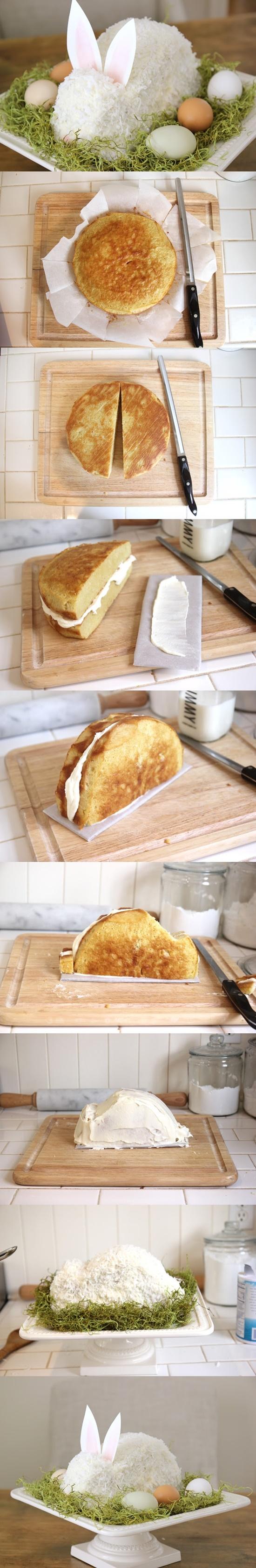 Que tal um bolo em forma de coelho... uma ótima pedida para reinventar a páscoa!